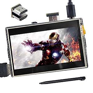 "OSOYOO HDMI 3.5インチLCDディスプレイ モニター タッチスクリーン Raspberry Pi 3 2 Model B に対応 (3.5"" HDMI LCD)"