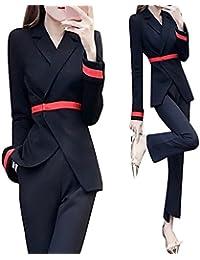 セットアップ パンツスーツ レディース 結婚式 スーツジャケット 卒業式 スーツ フォーマル 20代 30代 通勤 オフィス セレモニー 入園式 上下 おしゃれ ブラック