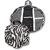 Duwee Multifunction Travel Makeup Bag Waterproof Cosmetic Organizer Drawstring Makeup Storage Bag Women Girls Portable Toiletry Bags (Zebra)