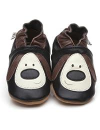 Soft Leather Baby Shoes Dog [ソフトレザーベビーシューズの犬] 18-24 months (15 cm)