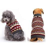 小型犬のためのBarlingrock犬のセータークリスマス、サイバー月曜日ペット服、犬服犬のシャツのベスト、秋冬祭り快適な子犬のドレスセーターニットアパレルコスチューム