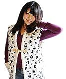 【日本製】 あったかボア付ベスト ルームウェア ボア付ポンチョ 袖なしポンチョ (ホワイト)