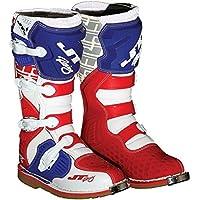 JT RACING ジェティーレーシング PODIUM Boots 2016モデル オフロードブーツ レッド/ホワイト/ブルー 13(約30cm)