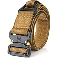 Tactical Belt, Heavy Duty Waist Belt Adjustable Military Style Nylon Belts with Metal Buckle Molle System 1.75""