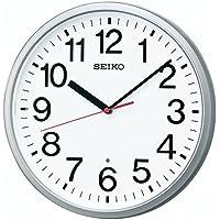 セイコー クロック 掛け時計 電波 アナログ 銀色 メタリック KX230S SEIKO
