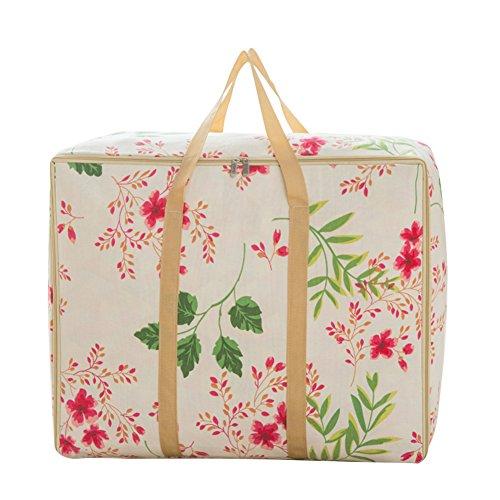 Sulida  薔薇の花柄 おしゃれ 布団収納ケース 衣類整理袋 ポリエステル 洗濯できる (S)