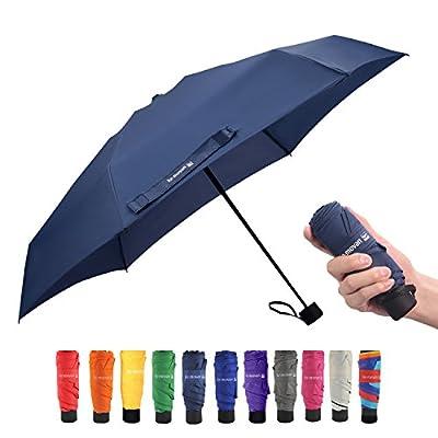 Ke.movan Travel Compact Umbrella Windproof Mini Sun & Rain Umbrella Ultra Light Parasol - Fits Men & Women, Gift Choice
