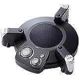 サンワダイレクト WEB会議マイクスピーカーフォン エコー/ノイズキャンセル機能搭載 最大3m集音 マイク3基搭載 400-MC003