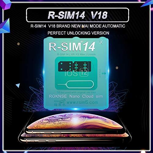 KISSION RSIM 14 V18.6 スマートフォンアクセサリー グローバル R-SIMロック解除カードアダプター For iPhone XS Max/XR/X / 8/7/6 IOS 13/12