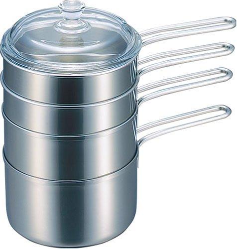 RoomClip商品情報 - 貝印 石黒智子のシンプルな台所道具 重ね鍋 14.5cm 5点セット DY-0031