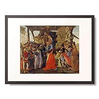 サンドロ・ボッティチェリ Sandro Botticelli 「Adoration of the Magi.」 額装アート作品