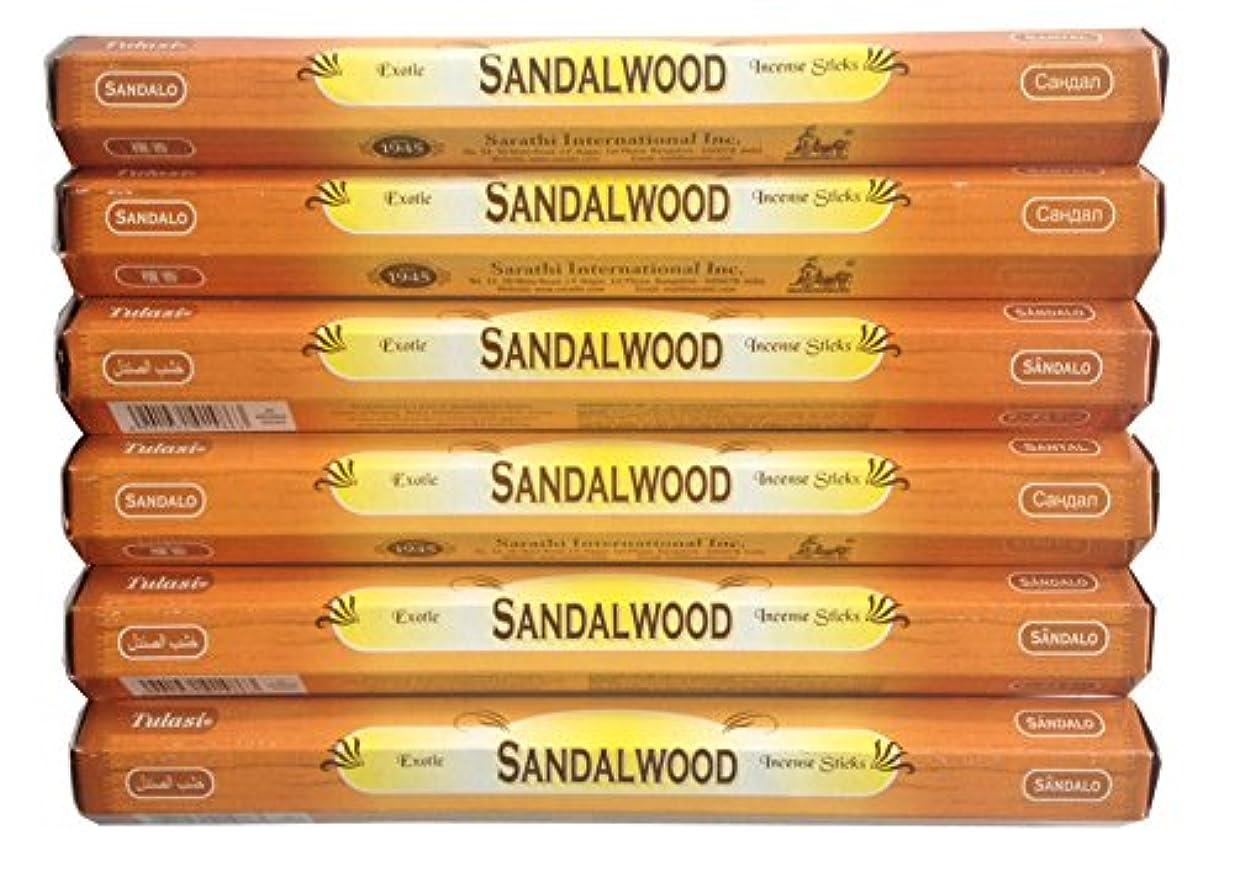 端実験をする用量トゥラシ お香 サンダルウッド 約20本×6個セット