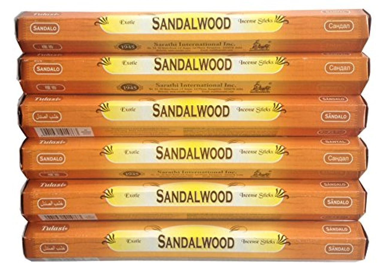 拾う閲覧する写真を撮るトゥラシ お香 サンダルウッド 約20本×6個セット
