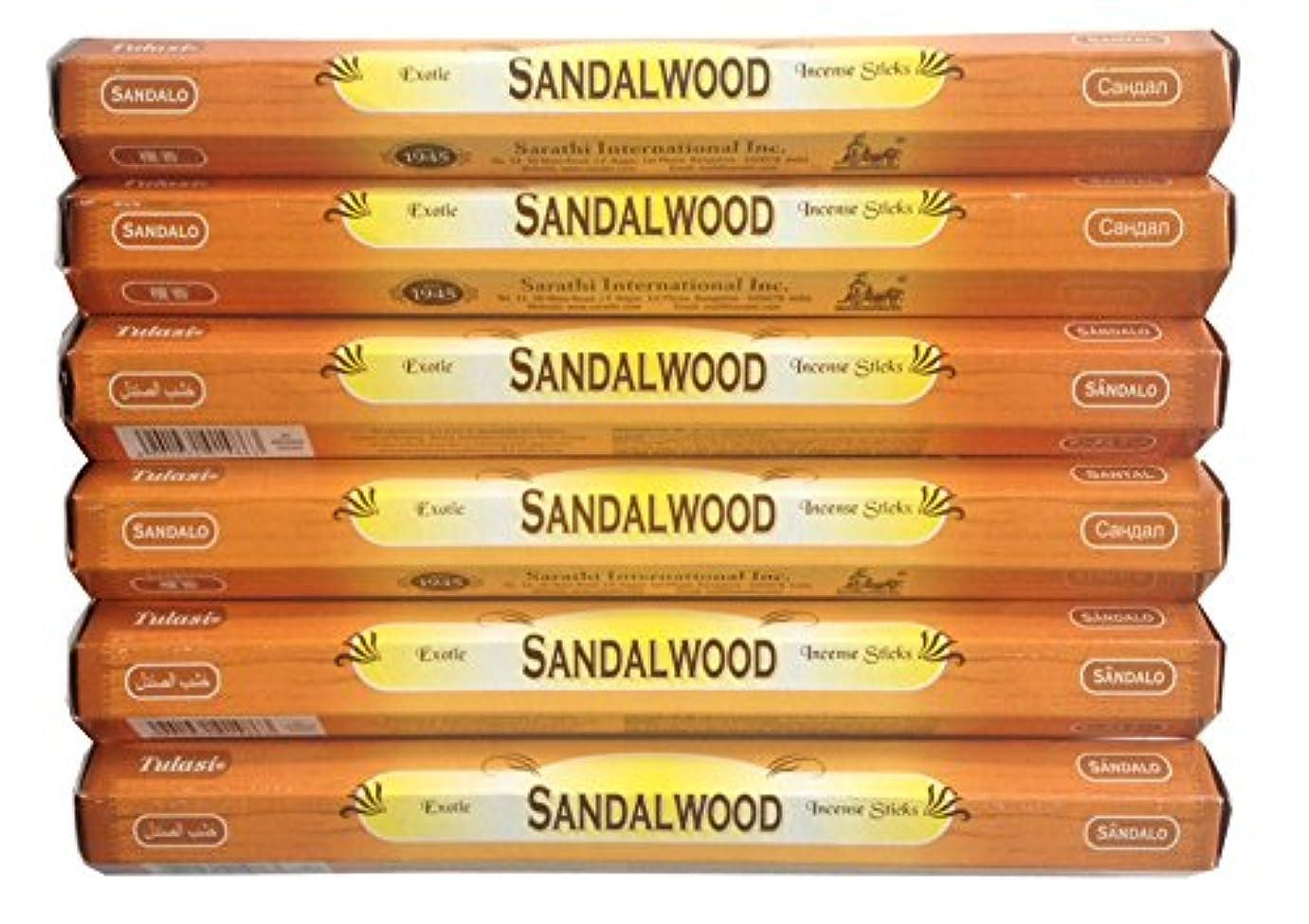スマート定期的イベントトゥラシ お香 サンダルウッド 約20本×6個セット