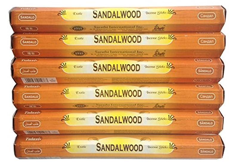 シーボード先のことを考えるぬるいトゥラシ お香 サンダルウッド 約20本×6個セット