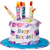 Adult Happy Birthday Cake Hat With Candles Fancy Dress Party Accessory Funny New