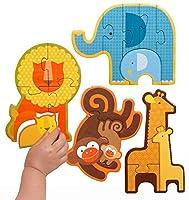 Petit Collage Beginner Puzzle, Safari Babies [並行輸入品]