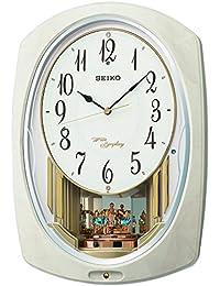 セイコー クロック 掛け時計 電波 アナログ トリプルセレクション メロディ 回転飾り アイボリー マーブル 模様 AM261A SEIKO