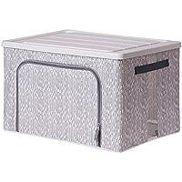 蓋付きの衣類収納ボックス、環境にやさしいポリエステル素材防湿防湿、折りたたみ可能な大容量重ね合わせ可能。