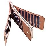 (スーパーモダン)Super Modern長財布 三つ折 ワォレット 男女兼用 お札入れ 大容量カードケース 8色 レディース財布 メンズ財布 PUレザー カード26枚収納 折財布
