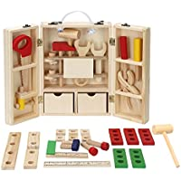BATTOP木製ツールボックスPretend Play教育Construction Toy for Kids