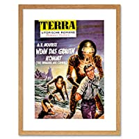 Sci Fi Aliens Tierra Science Fiction Cover New Framed Wall Art Print エイリアン科学フィクションカバー壁