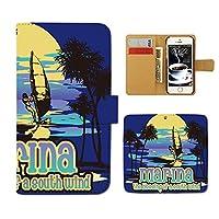 (ティアラ) Tiara iPhone SE iPhoneSE スマホケース 手帳型 サーフ 手帳ケース カバー サーフィン ボード SURF 海 F0169040086502