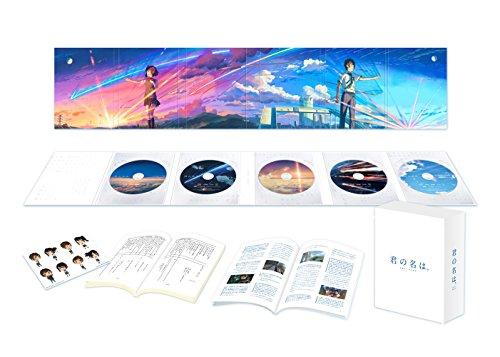 【Amazon.co.jp限定】「君の名は。」Blu-rayコレクターズ・エディション 4K Ultra HD Blu-ray同梱5枚組 (初回生産限定)(早期購入特典:特製フィルムしおり付き)(オリジナル特典:描き下ろしA4特製フレーム[高画質印刷]+特殊加工ポストカード2枚組付き)