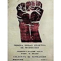 Propaganda Nicaragua Revolution Fist Collective Art Print Poster Wall Decor 12X16 Inch 宣伝ニカラグア革命ポスター壁デコ