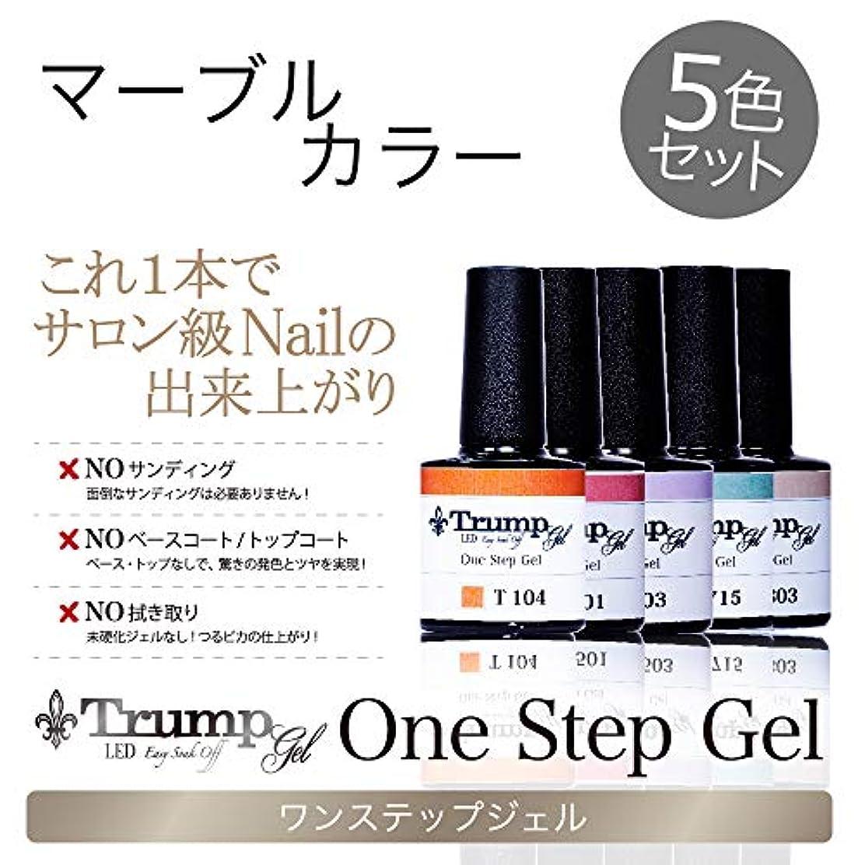 【日本製】Trump gel トランプジェル ワンステップジェル ジェルネイル カラージェル 5点 セット スモーキーモーヴ ボルドー ブラック マーブル (マーブルカラー5色セット)