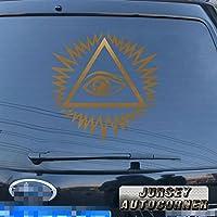 3s MOTORLINE Eye of Providenceデカールステッカーall-seeing神の目車ビニールno背景Pickサイズカラー 4'' (10.2cm) ブラック 20180402s1