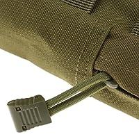 【ノーブランド品】 耐久性 戦術的 モジュラー ユーティリティ ポーチ 軍事 アクセサリー バッグ 5色選べる - アーミーグリーン