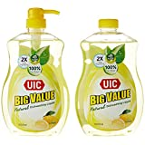 UIC Big Value Dishwashing Liquid Pump, Lemon, 1000ml (Pack of 2)