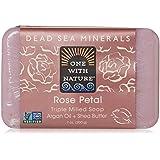One With Nature - 死海ミネラル棒石鹸の穏やかな剥離のバラの花びら - 7ポンド [並行輸入品]