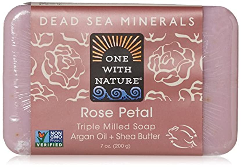 たとえコーンウォール豚肉One With Nature - 死海ミネラル棒石鹸の穏やかな剥離のバラの花びら - 7ポンド [並行輸入品]