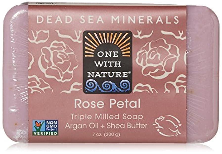 具体的に尽きるほこりっぽいOne With Nature - 死海ミネラル棒石鹸の穏やかな剥離のバラの花びら - 7ポンド [並行輸入品]