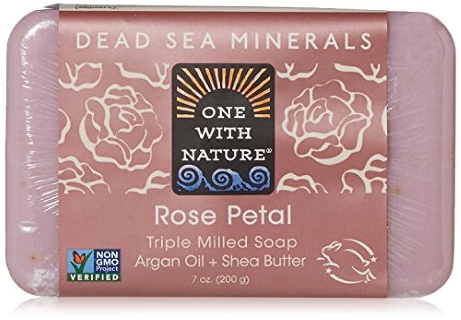 地区フィード牧草地One With Nature - 死海ミネラル棒石鹸の穏やかな剥離のバラの花びら - 7ポンド [並行輸入品]