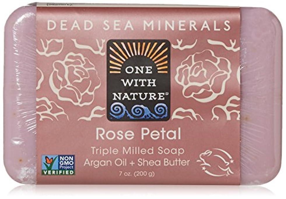 慣れているリングバック従事したOne With Nature - 死海ミネラル棒石鹸の穏やかな剥離のバラの花びら - 7ポンド [並行輸入品]