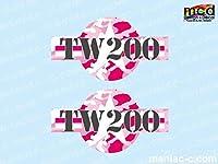 マニアックコレクション(mcd) エンブレムステッカー TW200用 アメリカンアーミー カモフラージュ ピンク ネコポス発送