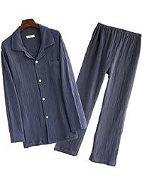 CMG (コモグッド) パジャマ メンズ 長袖 綿100 二重 ガーゼ 上下 セット