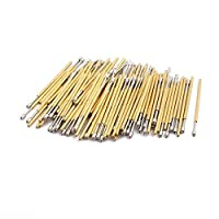 DealMux 100pcs PA125-A 1.0mm Dia 27.8mm Length Metal Spring Pressure Test Probe Needle