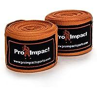 PRO IMPACT ボクシング/MMA ハンドラップ 180インチ メキシコスタイル 伸縮性 1組 オレンジ