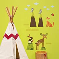 Oopsy Daisy Peel and Place Woodsy Critters Small by Carmen Mok, 28 by 35-Inch by Oopsy Daisy
