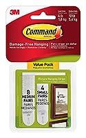 Command 絵画吊り下げストリップ バラエティーバリューパック 4スモールと8ミディアムペア (17203-ES) 4 Pack 17203-4PK.T10