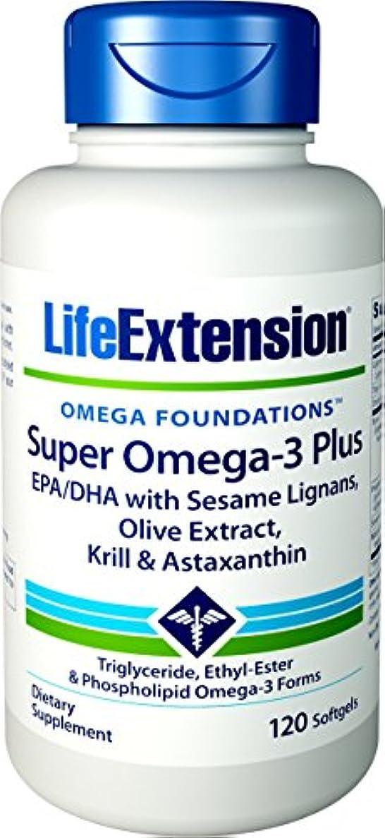 ダニ肌寒い数海外直送品Life Extension Super Omega with Krill & Astaxanthin, 120 Sgels