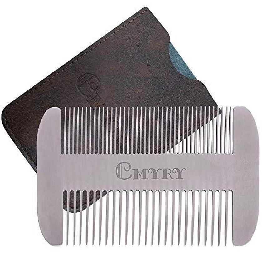 前文つまずく世界の窓Beard Comb EDC Mustache Stainless Steel Wallet Comb Beard & Hair Pocket Mini Anti-Static Comb for Man(travel metal...