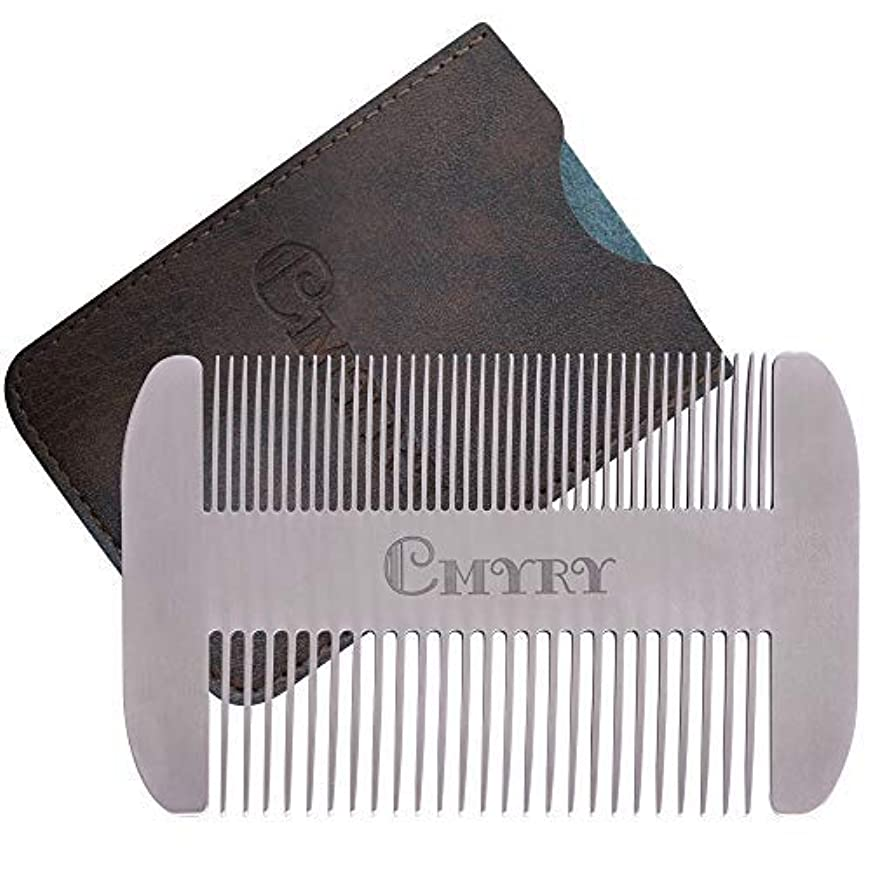 シェルターレイプモンキーBeard Comb EDC Mustache Stainless Steel Wallet Comb Beard & Hair Pocket Mini Anti-Static Comb for Man(travel metal...
