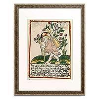 Woodcut, coloured 「Das Jesuskind mit dem Tragekorb. Nach 1470.」 額装アート作品