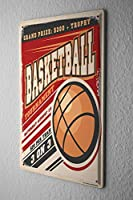 Shimaier 壁の装飾 メタルサイン ウォールアート - Fun Basketball 縦20×横30cm ブリキ看板 店舗装飾 壁面ディスプレー おしゃれ 雑貨 通販 アメリカン ガレージ