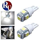RVNI 2個入り T10 5050 5SMD LED ライト バルブ ライセンスライト カーテシランプ パーキングライト プラスチック 高輝度 長寿命 低電力消耗 W5W 194 168 2825 158 192 ホワイト